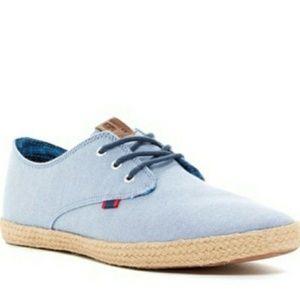 Ben Sherman Jenson lace up espadrille canvas shoes